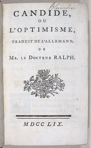 optimism in candide essays of elia